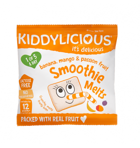 Kiddylicious Banana Mango & Passion Fruit Smoothie Melts 6gr