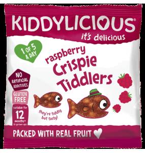 Kiddylicious Crispy Tiddlers Raspberry 12gr