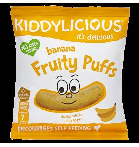 Kiddylicious Fruity Puffs 7m+ Γαριδάκια Μπανάνα 10γρ