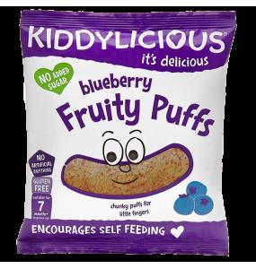 Kiddylicious Fruity Puffs 7m+ Γαριδάκια Μύρτιλο 10γρ