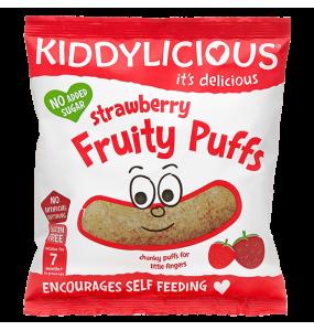 Kiddylicious Fruity Puffs 7m+ Γαριδάκια Φράουλα 10γρ