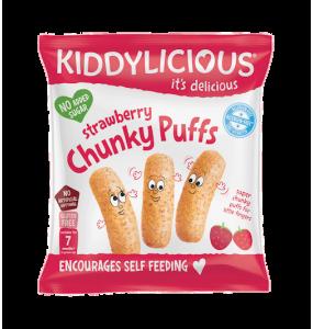 Kiddylicious Chunky Puffs 7m+ Γαριδάκια Φράουλα 10γρ