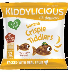 Kiddylicious Crispie Tiddlers Banana 12gr