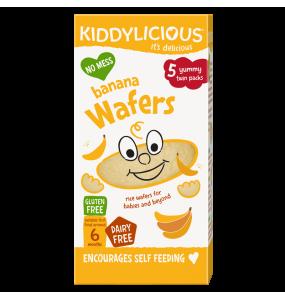 Kiddylicious Banana Wafers 6m+ Ρυζογκοφρέτα Μπανάνα 20γρ